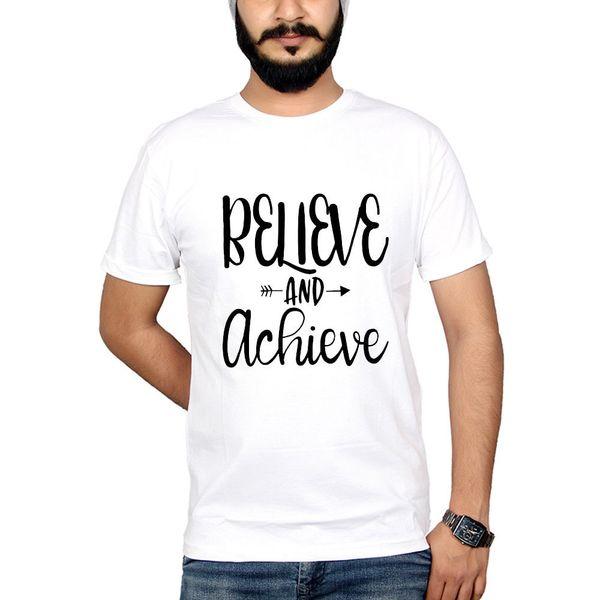 Compre Acredite Que Consegui Lo Sucesso Motivacional Citação Esporte Ginásio Cruz Fit Homens Camisetas De Algodão Homens Camisetas Clássico Top Tee
