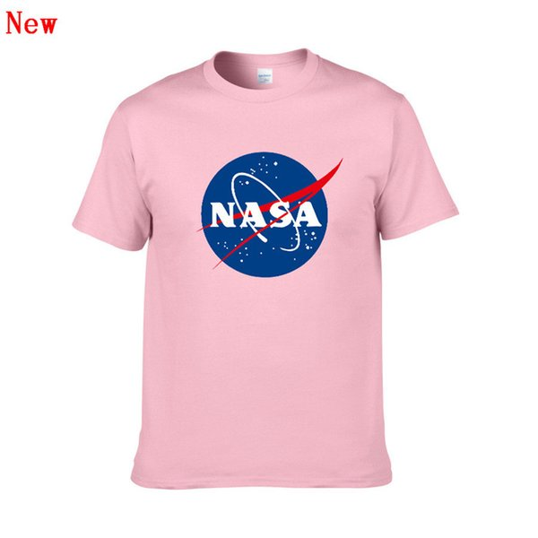 Logo de la NASA Imprimer T-shirt Hommes Nouvel Été À Manches Courtes Coton Hommes t-shirt Marque Designer Casual Vêtements de Fitness Vêtements Tops Tees ZJ3