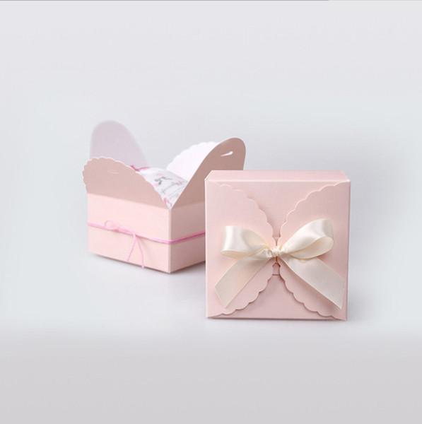2019 9*9*5 см синий и розовый ручной торт коробка печенье Печенье выпечки упаковка коробки партии упаковка конфеты подарочная коробка
