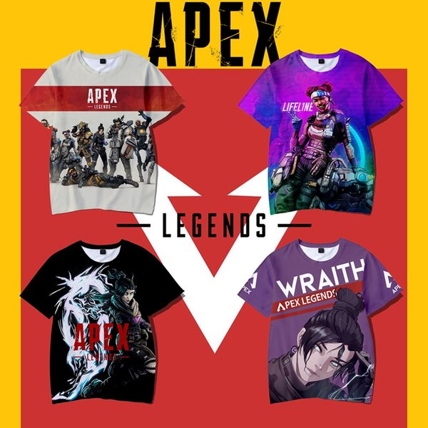 Apex Legends Men T shirt Jogo Logotipo Casual Meninos de Manga Curta T-shirt Moda 2019 Nova Moda Masculina Tops Tees Atacado