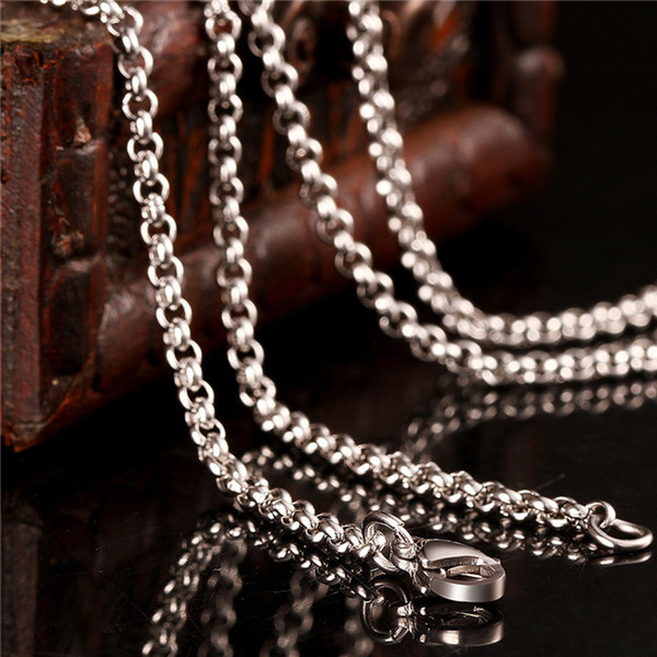 2015 new design stainless steel chain necklace 2.5MM 18-24inches Top quality fashion jewelry L6002