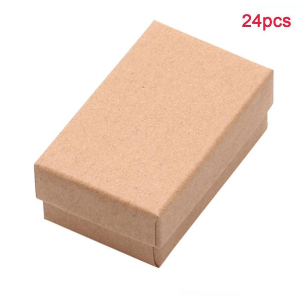 Estuche de almacenamiento fiesta de cumpleaños 24pcs Mini Travel Anillos collar de regalo de cartón rectangular joyería caja de presentación portátil Organizador