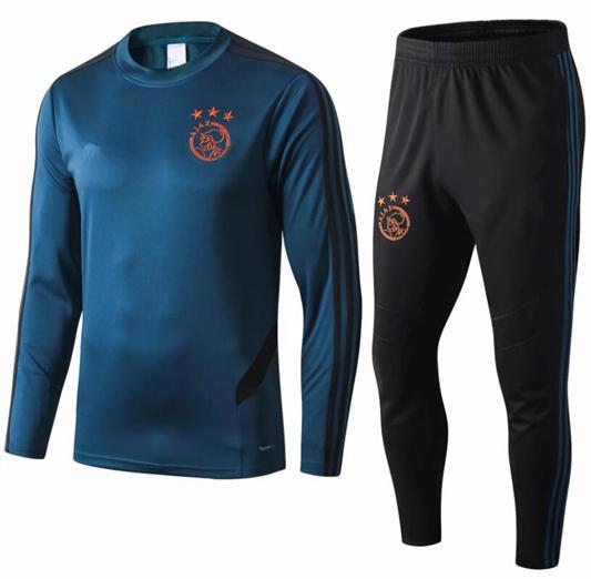 En kaliteli 19 20 Ajax FC Futbol Formaları eğitim takım elbise 2019 2020 chándal HUNTELAAR NOURI DOLBERG TADIC futbol eşofman ceketler
