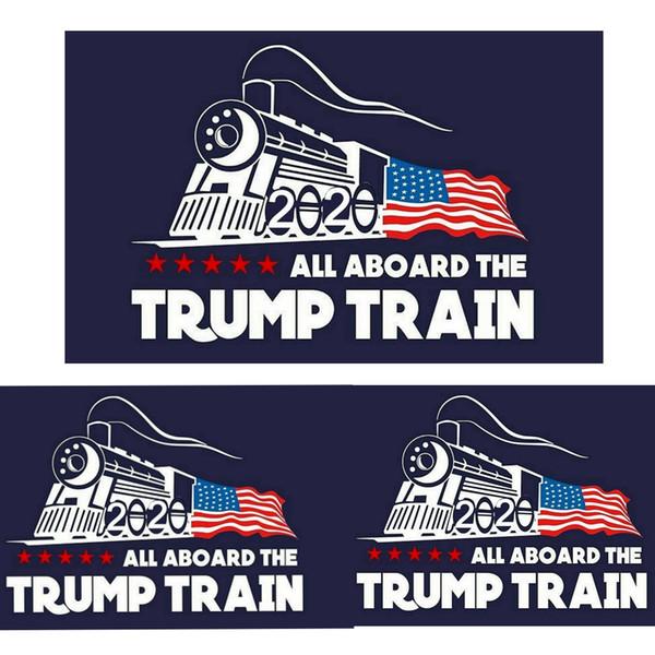 2020 trunfo etiqueta do carro Donald Trump locomotiva adesivos Janela do trem Adesivo Casa Sala de estar Decoração Adesivos De Parede MMA1744