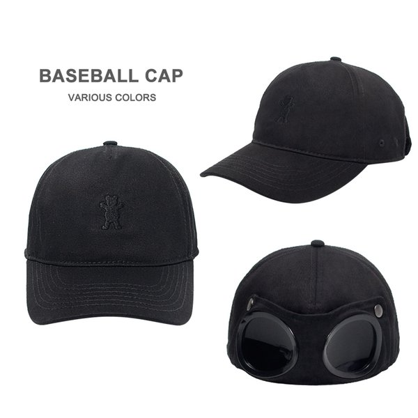 2019 Europe And America Black Glasses Baseball Cap Red Men And Women Breathable Sunscreen Sunglasses Cap Hat Tide Y200110
