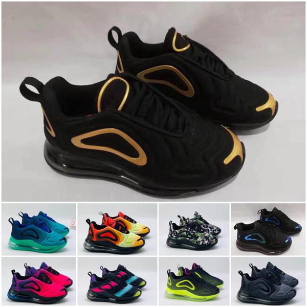 Nike Air Max 720 2020 Kanye West Infant Clay малышей Дети Кроссовки Статическая GID chaussure де спорта налить Enfant мальчиков девочек вскользь тренеров