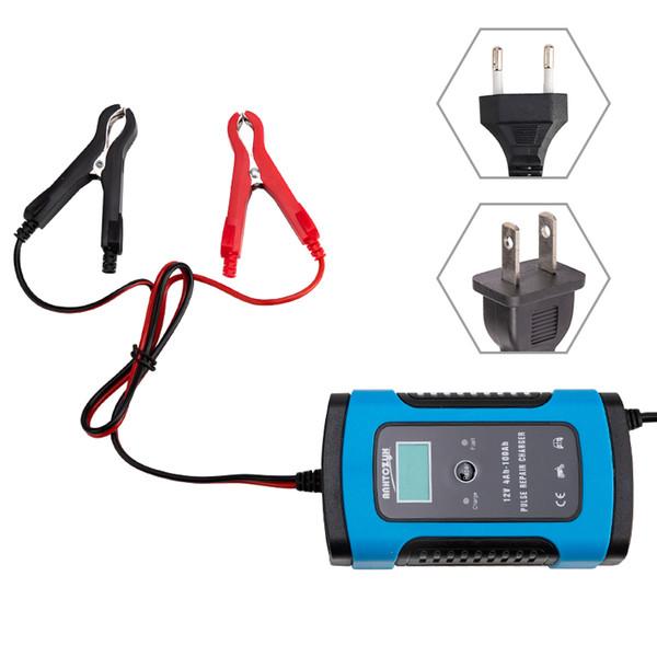 Chargeur de batterie de voiture entièrement automatique 110V à 220V à 12V 6A Intelligent Puissance Rapide Charge Wet Dry Lead Acid Digital LCD Display
