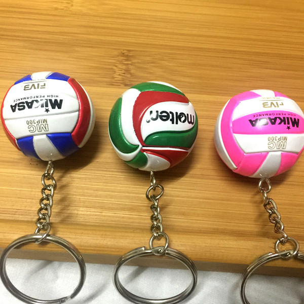 10pc Pvc Volleyball Keychain Sport Key Chain Gift Car Ball Key Holder Ring For Sports Team For Men Women Keyring Birthday Gift J 190511