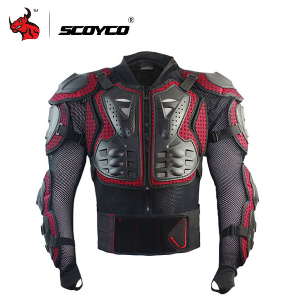 SCOYCO Motorradjacke Herren Ganzkörper Motorrad Rüstung Motocross Racing Schutzausrüstung Schutz Größe S-4XL