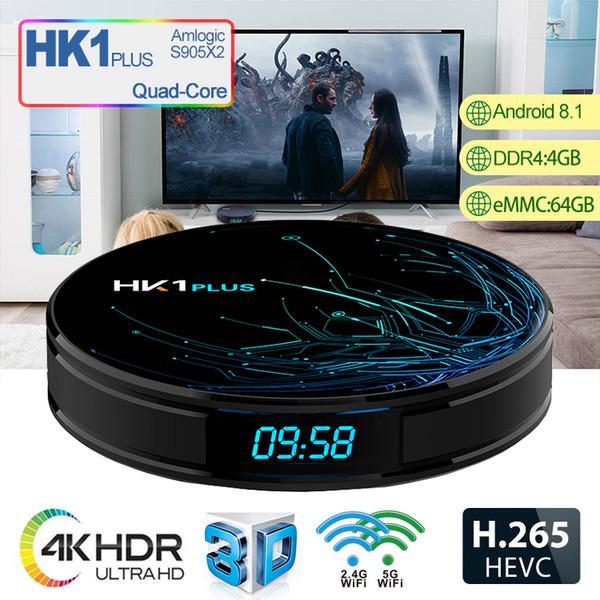 Android 8.1 Caixa De TV 4G 64G Amlogic S905X2 2.4G5.8G Wifi BT4.2 1000 M Inteligente TV Gravação De Vídeo Set Top Box