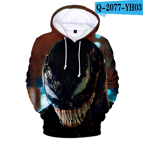 Venom Sweatshirt Film Survêtement À Manches Longues À Capuche Costume Pullver Hommes À Capuche Hommes 3D Vêtements 3D Vêtements Marvel Vêtements