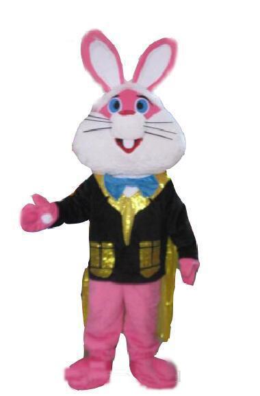 2018 coelho de alta qualidade rosa traje da mascote dos desenhos animados coelho animal personagem mascote roupas de natal do dia das bruxas