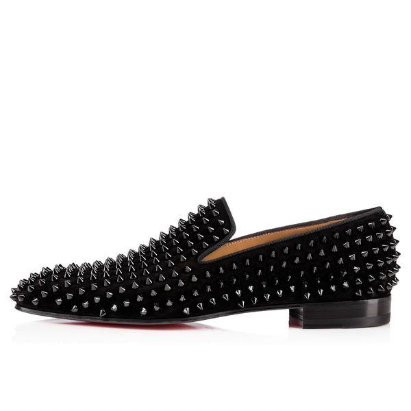 Cheap Hot Popular branded comfortable dress shoes for Men's black rivet Leather formal banquet shoes Designer fashion leisure men preferred
