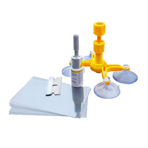 Kits de Reparação de pára-brisa DIY Ferramentas de Reparo Da Janela Do Carro de Vidro Raspar Windscreen Crack Restaurar Janela Da Janela de Polimento de Carro-Styling