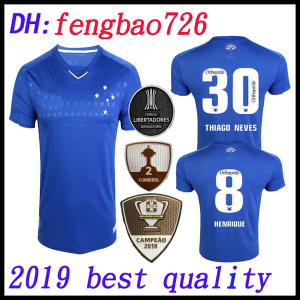 19 20 CRUZEIRO top thailand soccer jersey DE ARRASCAETA FRED ROBINHO THIAGO NEVES football shirt 2019 2020 Cruzeiro Brazilian club Camisas