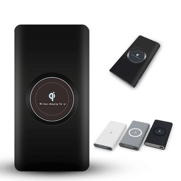 10000 mah drahtlose ladegerät powerbank ladegerät tragbare externe batterieleistung bank für iphone samsung huawei mit kleinkasten