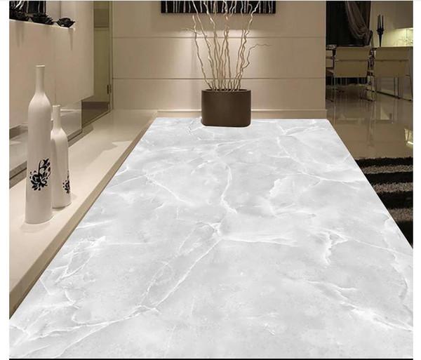 Customized 3D self-adhesive floor photo mural wallpaper Hotel living room marble stone pattern 3D waterproof floor tile