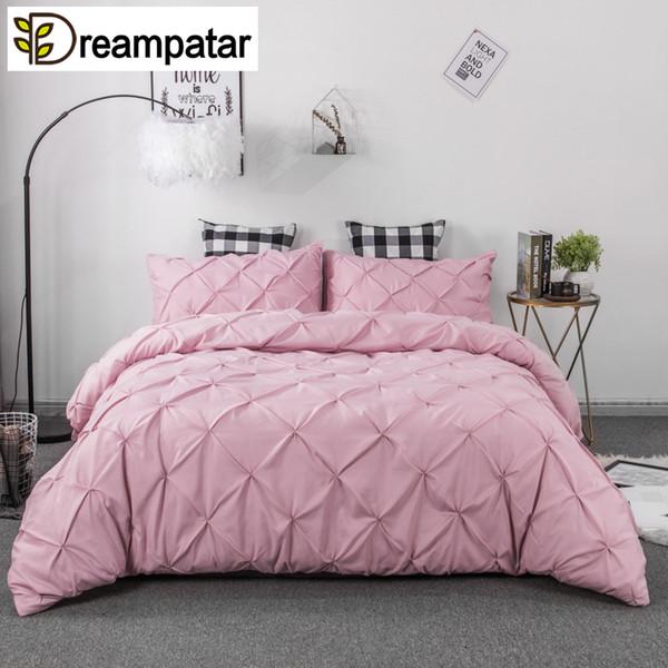 Oversized Solid Grid Bedspread//Quilt Set