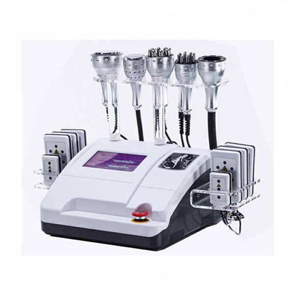 Venda quente a vácuo / cavitação / RF multipolar / máquina de emagrecimento multifuncional a laser