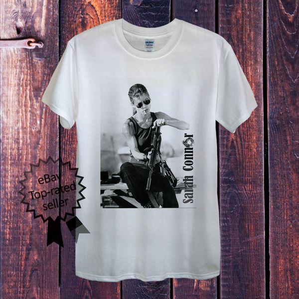 Sarah Connor T-Shirt dökmek Homme Femme ou Unisexe Terminator cattt rüzgarlık Pug tshirt Trump ter sporter t-shirt