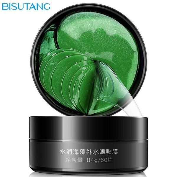 BISUTANG Green Seaweed Collagen Eye Mask Face Anti Wrinkle Gel Sleep Mask Care Eyes Pads Moisturizing Eye Mask Eye Care Gel Patches 60PCS