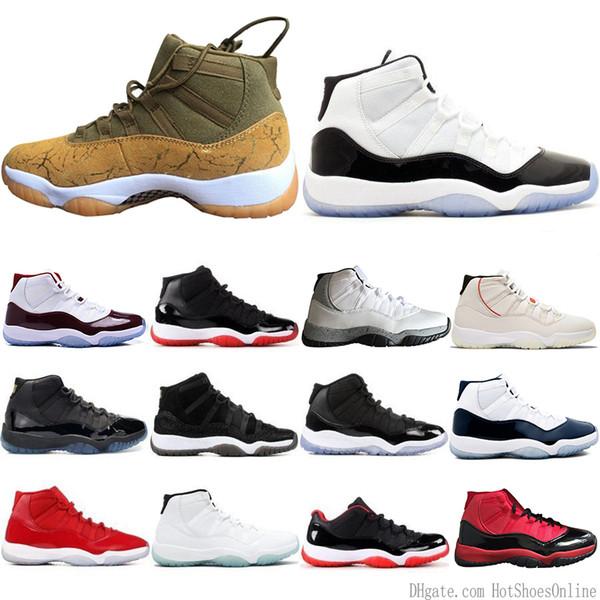 En Moda 11 11 s Erkek Basketbol Ayakkabı Concord 45 Atmosfer Gri Platin Tonu Uzay Reçel Spor Salonu Kırmızı Tasarımcı Erkekler Spor Sneakers Bize 5-13