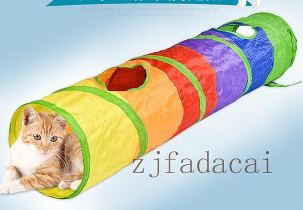 Artículos para mascotas rollo de tierra Totoro juguete Super Cat largo túnel taladro puede ser la combinación libre de arco iris túnel del gato de empalme