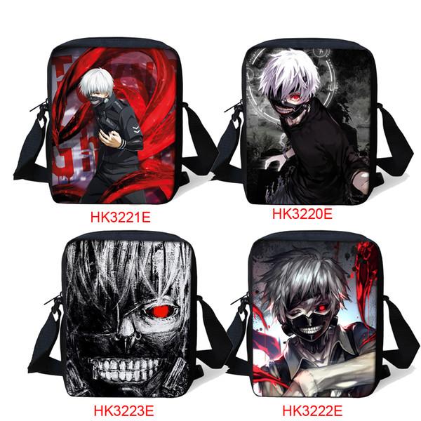 Handbag Shoulder Coloranimal Homens Travel Bag Crianças Pequenas Mochila Bookbag Criança Messenger Bag Tóquio Ghoul Game Design Set Crianças