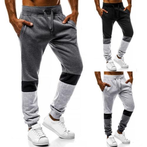 패션 남성 긴 바지 보이 체육관 조깅 느슨한 긴 바지 스웨트 팬츠 스키니 운동복 바지