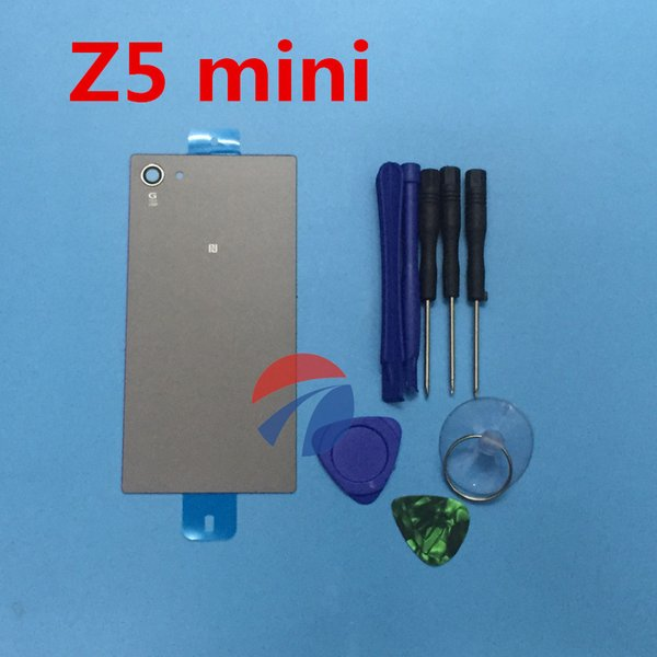 Back Glass Cover For Sony Xperia Z5 Compact Mini E5803 E5823 Back Cover Battery Door Glass Housing + tools