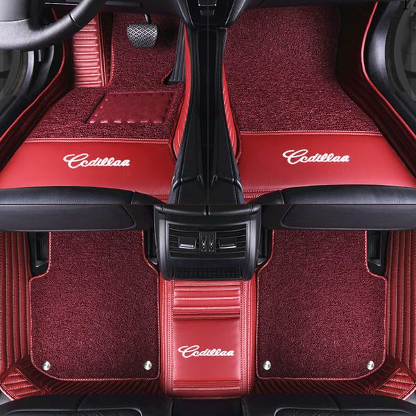 Luxury Custom Car Floor Mat With Car LOGO for HONDA Accord City Civic CRV Fit Insight Odyssey Stream Luxury Leather Mats for Cars Floor Mat