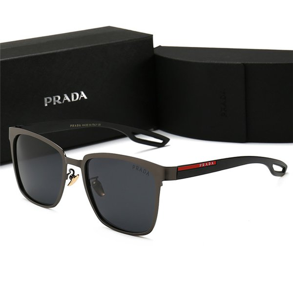 Hot 2019 New Fashion Vintage Fahren Sonnenbrille Männer Outdoor Sports Designer Luxus Berühmte Herren Sonnenbrille Sonnenbrille Mit Fällen und Box