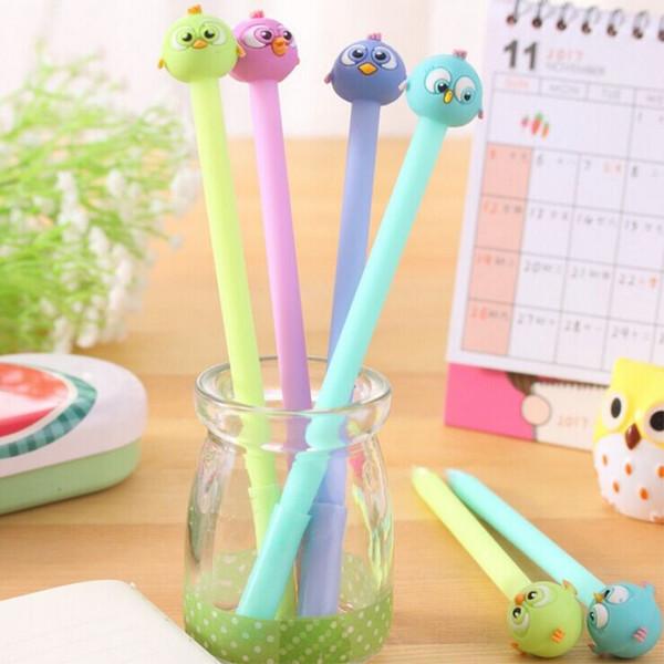 top popular Cartoon birds gel pen children Student animal Writing Pen Office Eexamination Limited Office Material School Supplies wholesale Free E-PACK 2019