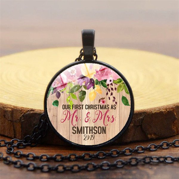 New foreign trade jewelry Bible verse time gemstone necklace Fashion glass dome pendant necklace neck chain sweater chain 3 colors optional