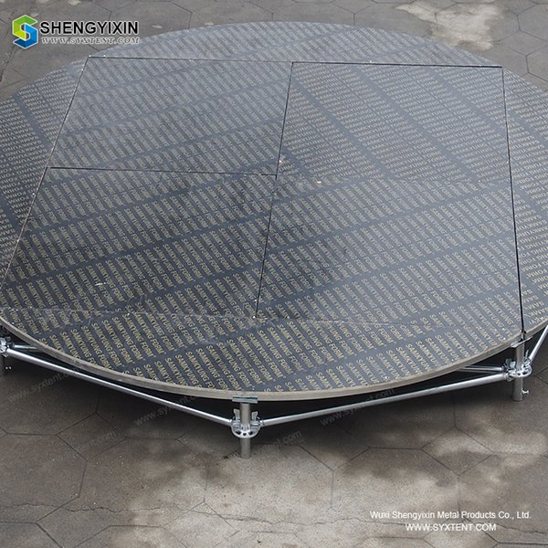 adjustable aluminium stage for concert and theatre design moveable aluminum stage non-slip industrial finish outdoor stage