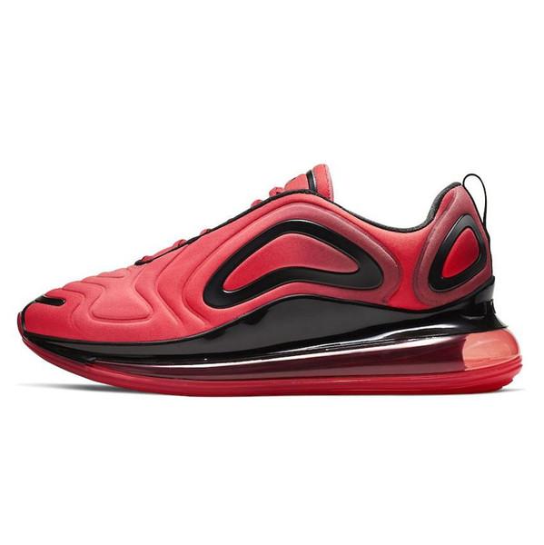 Acheter Avec Boîte 2019 Nike Air Max 720 cheapcasual Chaussures Hommes Femmes Noir Or Rouge Aurores Boréales Lever Du Soleil Coucher Du Soleil Arc En