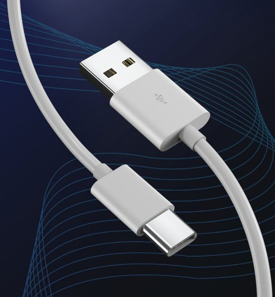 Migliore qualità 1M 3FT rotondo bianco dei dati di carica di tipo C Cavo USB per LG G5 Xiaomi Huawei P10 6s 7plus con la scatola di vendita al dettaglio