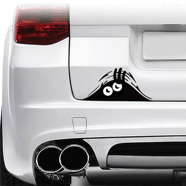 Accesorios de estilo de coche reflectante a prueba de agua de moda divertido peeking etiqueta engomada del coche calcomanía de vinilo decorar etiqueta