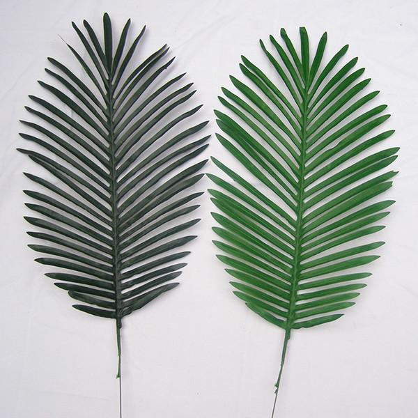 2019 New Fashion 69cm Long Artificial Palm Leaves 10pcs Green Plants Decorative / Artificial Flowers for Party Decoration Wedding Decoration