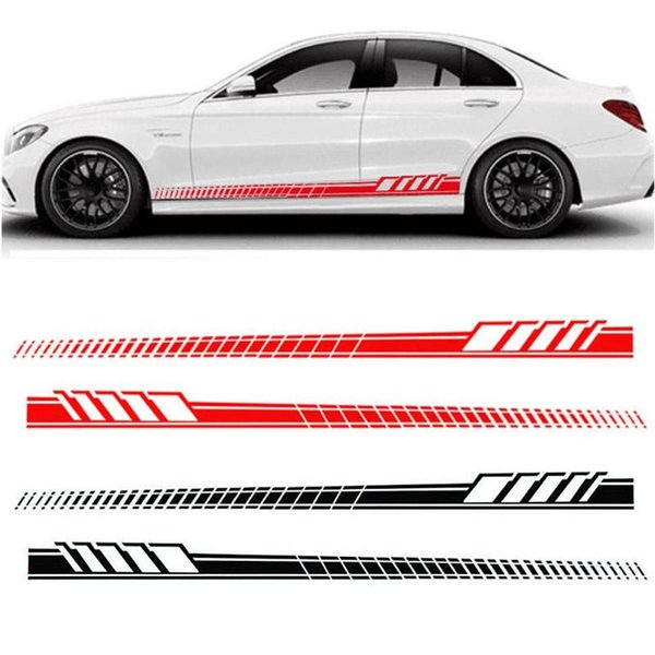 Auto Car Waist Side Skirt Decoration Stickers AMG Edition Racing Stripe Side Body Garland for Mercedes Benz C Class W204 W205 GGA1733