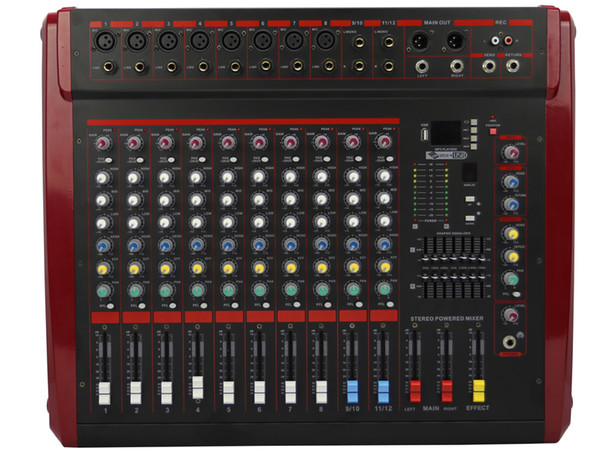 Professional 4 Channel Build In Vocal Effect USB MP3 Decode 48V