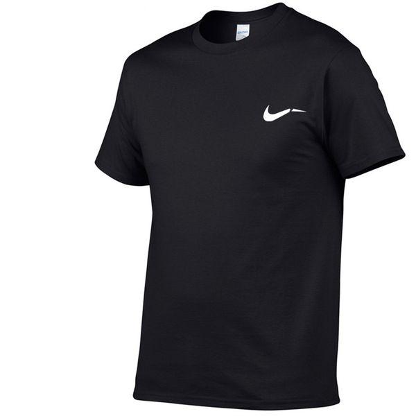 2018 summer men's T-shirt sports fashion casual black white blue gray round neck T-shirt designer brand logo printing hip-hop tops