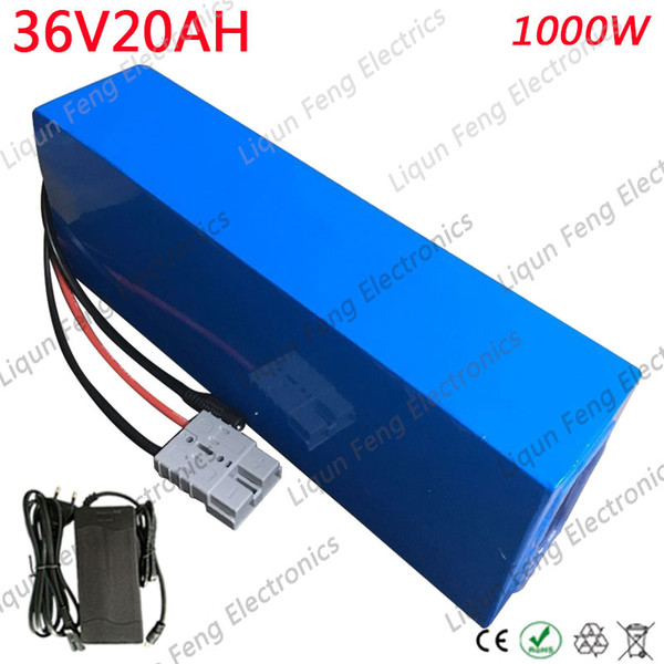 750W 36V Electric Bike Battery 36V 20AH Lithium Battery 36V 20AH Ebike Battery With 30A BMS and 42V 2A Charger Free Customs Tax