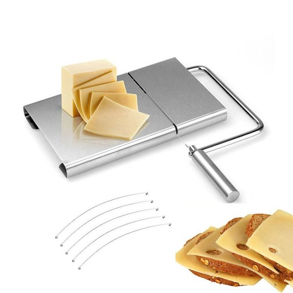 Butter Plate Stainless Steel Cheese Slicer Multi-function Cutter For Cheese Ham Bread Kitchen Utensil Tools 2 Pieces ePacket