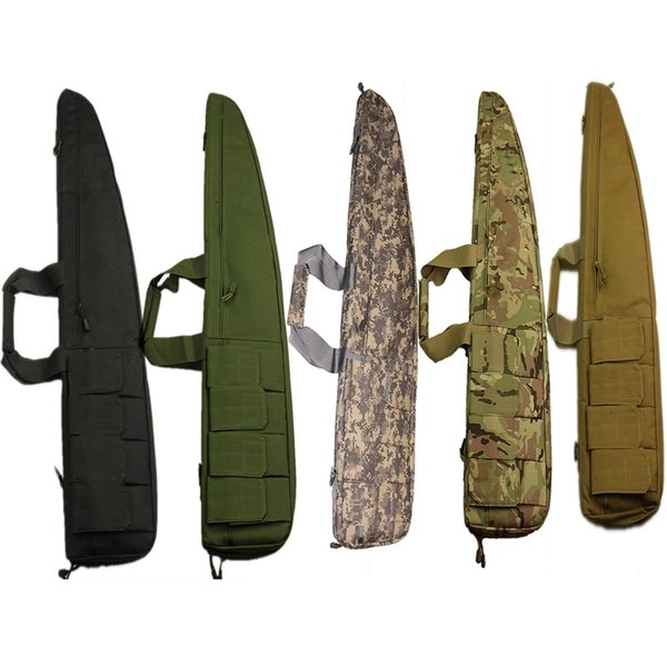 High Quality Nylon Tactical 90cm Rifle Bag 4 Magazine Pouch Soft Bag for Military Combat Shooting #369180