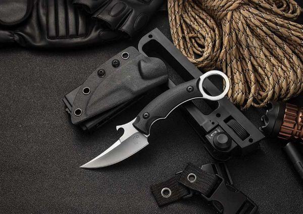 Bast Kısa Gri Uskumru BAS15 taktik pençe bıçak markası D2 bıçak kendini savunma bıçak G10 kolu sabit Kydex kılıf bıçaklar EDC Swisstool