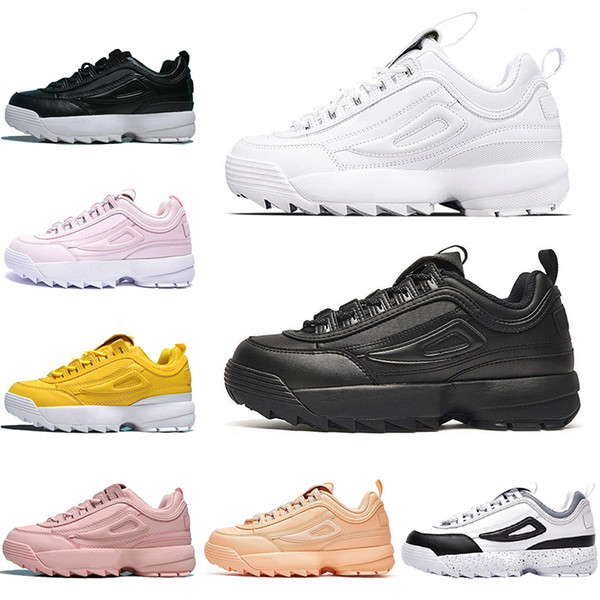 2020 lace up fashion fila athletic outdoor triple white