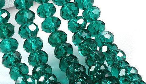 500pcs/LOT EMERALD GREEN Quality Faceted 4 SIZES #5040 RONDELLE Wheel glass crystal beads DIY JEWELRY MAKING