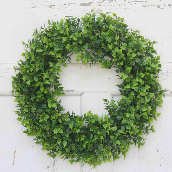 Simulation Plants Wreath Artificial Flower Wreath DIY Wedding Decoration Wreaths Picture Decor Props Wall Hanging Plant Pendant DH0912