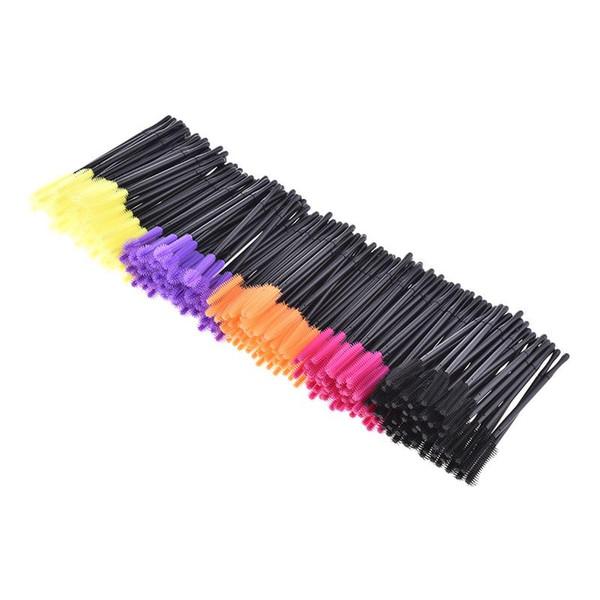 50pcs / set Cepillo de pestañas desechable Mascara Varitas Aplicador Peine de pestañas Pinceles de maquillaje Adecuado para uso diario